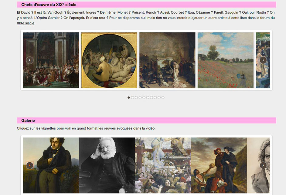 Illustration 3 MOOC histoire de l'Art