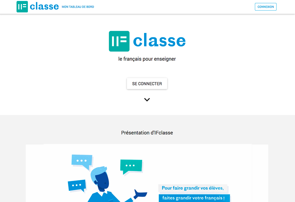 Plateforme IFclasse page accueil